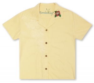 Bamboo Cay Ladies Floral Tops Hawaiian Shirt