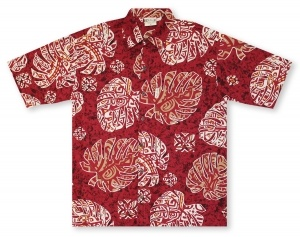 Go Barefoot Monsterra Tapa Hawaiian Shirt