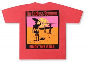 Go Barefoot By HIC Endless Summer Tee Shirt - Red Hawaiian Shirt