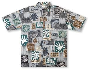 Go Barefoot Tapa Leaves Hawaiian Shirt