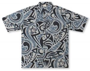 Go Barefoot Tribal Turtle Hawaiian Shirt