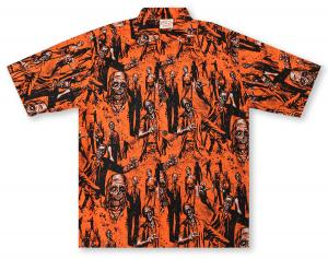 Go Barefoot Walking Dead Hawaiian Shirt