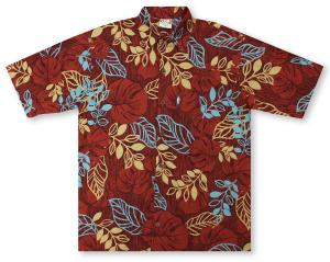 Go Barefoot Woodcut Hawaiian Shirt