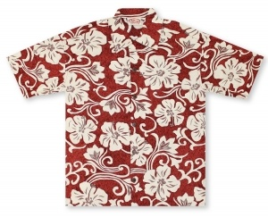Go Barefoot In Paradise Big And Tall Concrete Hibiscus* Hawaiian Shirt