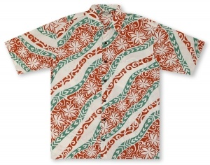 Go Barefoot In Paradise Big And Tall Floral Wave* Hawaiian Shirt