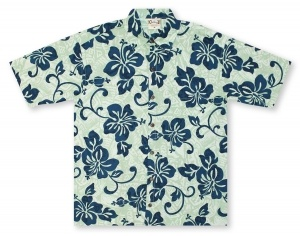 Go Barefoot In Paradise Big And Tall Hibiscus Shadow* Hawaiian Shirt