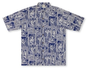 Go Barefoot In Paradise Big And Tall Tahitian Blocks* Hawaiian Shirt