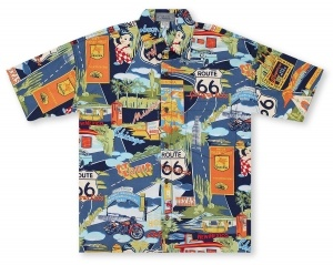 High Seas Route 66 Landmarks Hawaiian Shirt