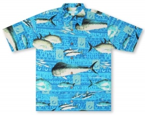Kai Clothing Gyotaku Hawaiian Shirt