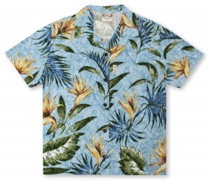 Go Barefoot Ladies Bird of Paradise Hawaiian Shirt