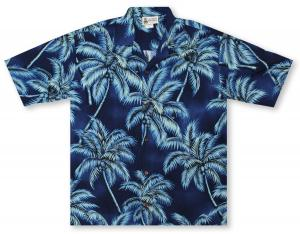 Aloha Republic Moonlit Palms Hawaiian Shirt