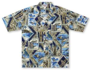 Pacific Legend Old School Surf Hawaiian Shirt