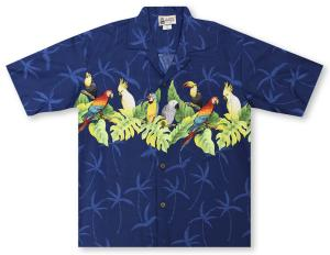 Aloha Republic Parrot Perch Hawaiian Shirt