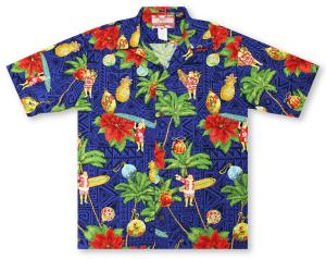 RJC All About Christmas - Navy Hawaiian Shirt