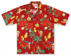 RJC All About Christmas - Red Hawaiian Shirt