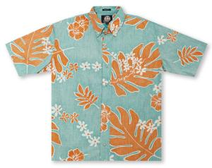 Reyn Spooner Old School - Lagoon Hawaiian Shirt