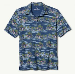 Tommy Bahama What The Hula Polo Hawaiian Shirt