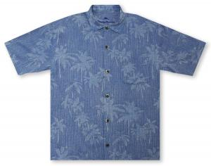Tommy Bahama Digital Palms - Cobalt Sea Hawaiian Shirt