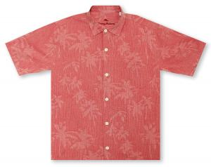 Tommy Bahama Digital Palms - Forever Red Hawaiian Shirt