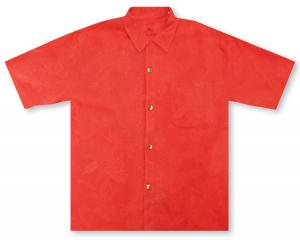 Tommy Bahama St. Lucia Fronds - Bright Coral Hawaiian Shirt