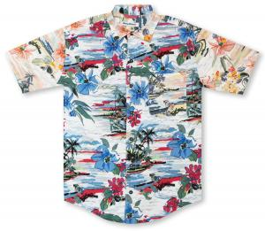 Tommy Bahama Sunblocked Cove Hawaiian Shirt