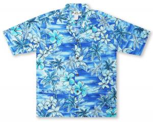 Two Palms Blue Hawaii Hawaiian Shirt