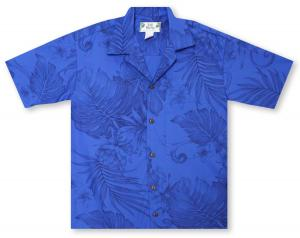Two Palms Monstera Ceres - Royal Blue Hawaiian Shirt