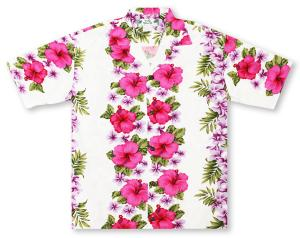 Two Palms Plumeria Panel Hawaiian Shirt