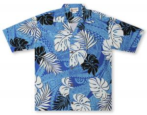 Aloha Republic Tapa Fronds Hawaiian Shirt