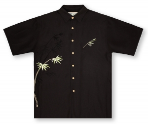 Bamboo Cay Bamboo - Black Hawaiian Shirt