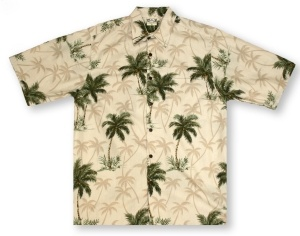 Go Barefoot Coconut Trees- Sand* Hawaiian Shirt