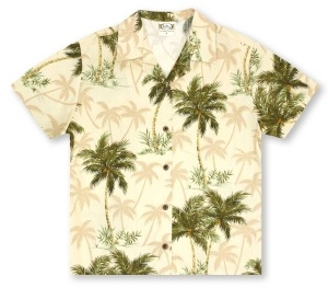 Go Barefoot Ladies Coconut Trees - Sand* Hawaiian Shirt