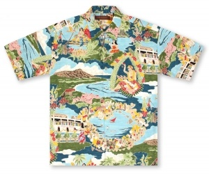 Tori Richard Big And Tall Boat Day Aloha Hawaiian Shirt