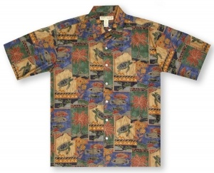 Tori Richard Big And Tall Marquises Hawaiian Shirt