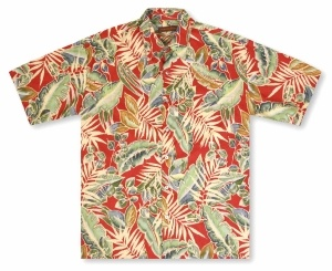 Tori Richard Big And Tall Junglelaya - Red Hawaiian Shirt