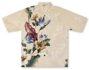 Hilo Hattie Hibiscus Paradise Men's Shirt Hawaiian Shirt
