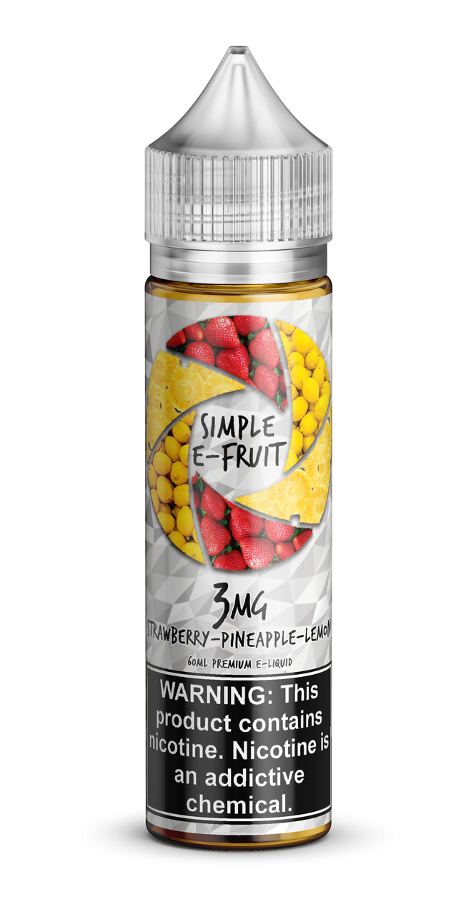 Simple E-fruit, Strawberry Pineapple Lemon