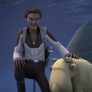 Lando smuggles puffer pigs over Lothal
