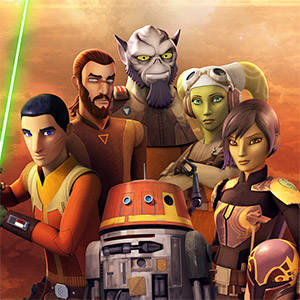 Star Wars Rebels (Starts here. Takes place over 4 standard years)