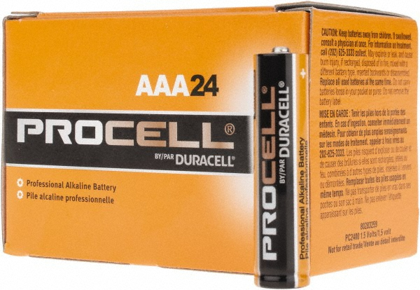 Duracell PC2400-144 Duracell Alkaline AAA PC2400 144 PACK (CASE)