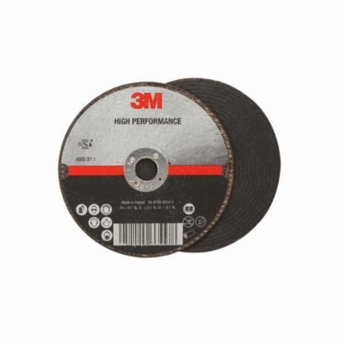 3M™ 051115-66577 High Performance Quick-Change Type 27 Cut-Off Wheel, 4-1/2 in Dia x 1/8 in THK, 5/8-11 Arbor, 60+ Grit