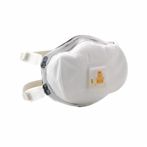 3M™ 8233 Particulate Respirator With Cool Flow™ Exhalation Valve, Standard, N100, 99.97%, White