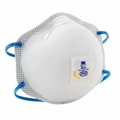3M™ 8271 Disposable Particulate Respirator With Cool Flow™ Exhalation Valve and Adjustable M-Nose Clip, Standard