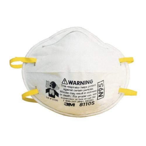 3M™ 051138-54305 Disposable Particulate Respirator, S, N95, Welded, White