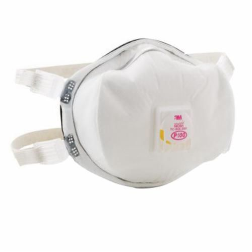 3M™ 8293 Particulate Respirator, Standard, P100, 99.97%, Elastic, White