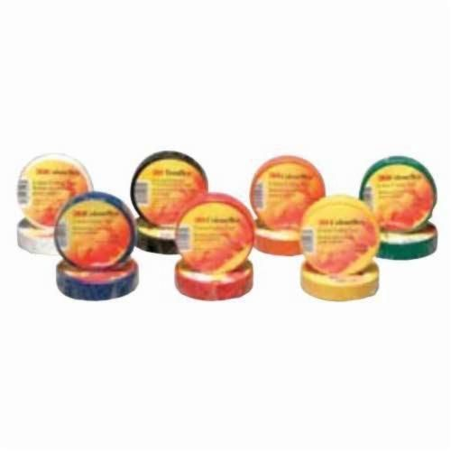 3M™Colourflex™ 051141-04475 Economy Application-Grade Electrical Tape, 60 ft L x 3/4 in W x 7 mil THK, Vinyl, Red