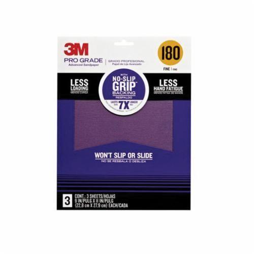 3M™ 26080CP-P-G Coated Sanding Sheet, 9 in L x 11 in W, 80/Medium