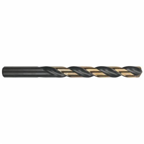 Ambore™ 12080 Heavy Duty Jobber Length Drill, 11/32 in Dia x 4-3/4 in L, HSS, Black/Gold Oxide