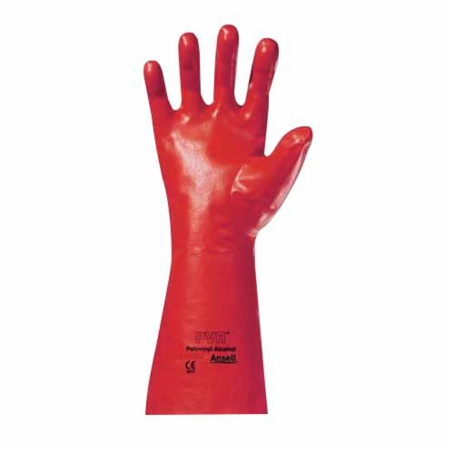 Ansell 15-552-8 Ansell 15-552-8 Fully Coated Chemical Resistant Gloves, SZ 8, Red, Polyester Vinyl Alcohol