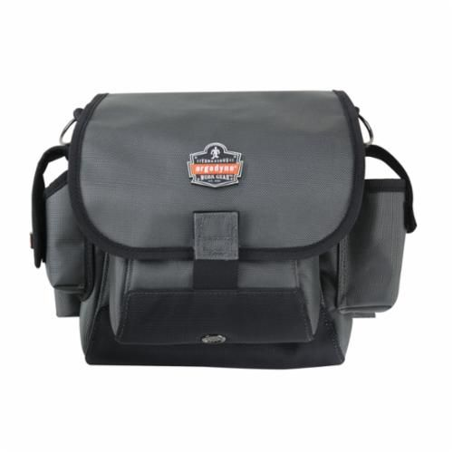 Arsenal® 13642 Topped Tool Pouch With Loop Attachment, 33 lb, 19 Pockets, Gray, 1680D Ballistic Nylon
